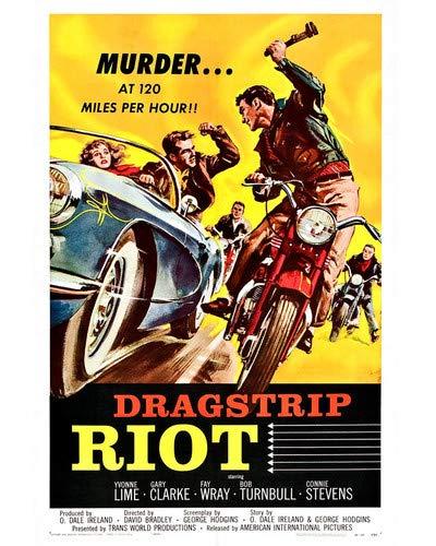 Dragstrip Riot Chevrolet Corvette Vintage 1956 Sports Car Motorbike Movie 8x10 HD Aluminum Wall Art ()