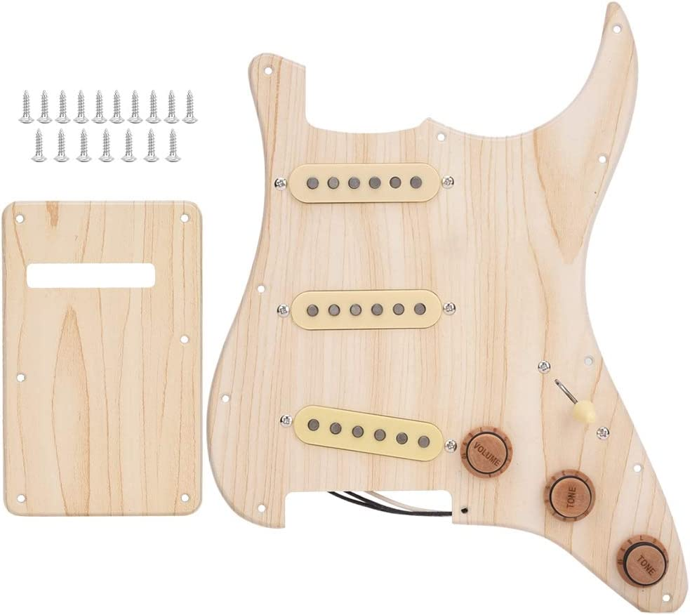 Guitar Loaded Pickguard, Maple Prewired Loaded SSS Pickguard 3 ...