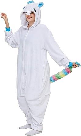 Adult and Child Unisex Unicorn Tiger Lion Fox Onesie Animal Cosplay Pajamas Halloween Carnival Costume Fancy Dress Loungewear