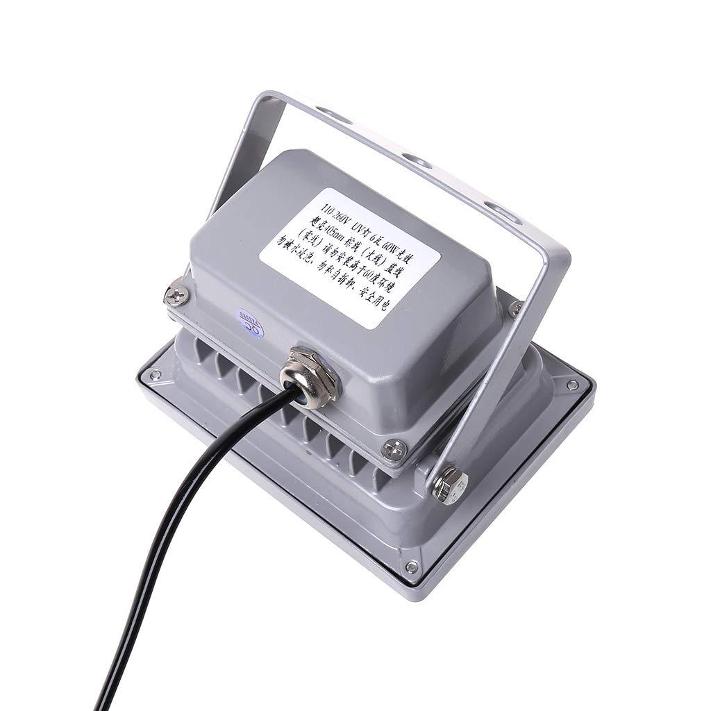 Luz de curado de resina UV 405 nm l/ámpara LED fotosensible s/ólida 60 W accesorios de salida para impresora 3D SLA DLP US EU Fafalloagrron