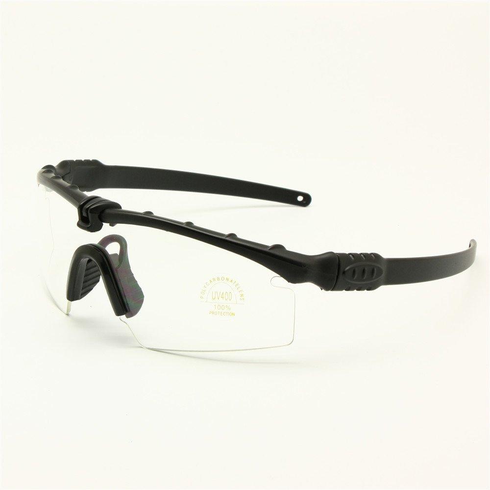 Gafas de sol polarizadas gafas de militares del ejército los hombres frame 3 / 4 lente Agencia de juego de guerra eyeshields(negro, 3 lentes): Amazon.es: ...