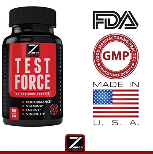 TEST:FORCE - 100% Natural Maximum Strength & Potent Testosterone Booster For Men - Supercharges Vitality, Muscle Mass & Powerful Energy Booster - Full 30-Day Cycle by Zeo Nutrition by Zeo Nutrition (Image #4)
