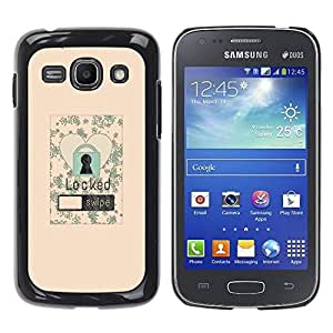 Paccase / SLIM PC / Aliminium Casa Carcasa Funda Case Cover para - Lock Screen Love Heart Floral Vignette Poster - Samsung Galaxy Ace 3 GT-S7270 GT-S7275 GT-S7272