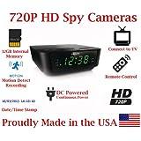 720p Alarm Clock Radio HD Spy Camera Covert Hidden Nanny Camera Spy Gadget with 32GB Micro SD Card
