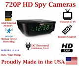 720p Alarm Clock Radio HD Spy Camera Covert Hidden Nanny Camera Spy Gadget with 32GB Micro SD Card