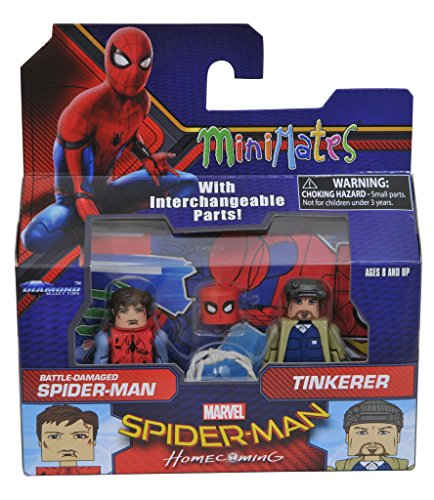 Marvel Minimates Series 73 Spider-Man Homecoming Movie Battle Damaged Spider-Man & Tinkerer 2-Pack