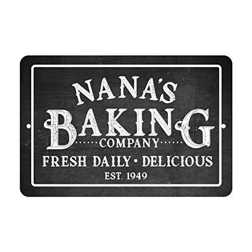 Pattern Pop Personalized Chalkboard Baking Company Metal Room Sign -