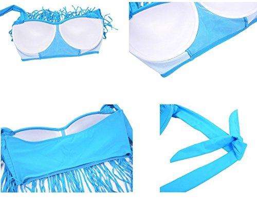 96d0f0030f93c Zando Womens Swimwear Plus Size Print Retro High Waist Two Piece ...
