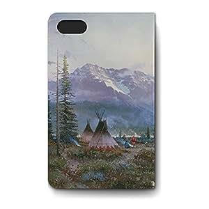 Leather Folio Phone Case For Apple iPhone 4/4S Leather Folio - Days of Peace Premium Cover
