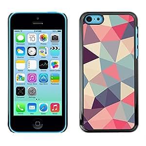Be Good Phone Accessory // Dura Cáscara cubierta Protectora Caso Carcasa Funda de Protección para Apple Iphone 5C // polygon triangle pattern poly art pattern