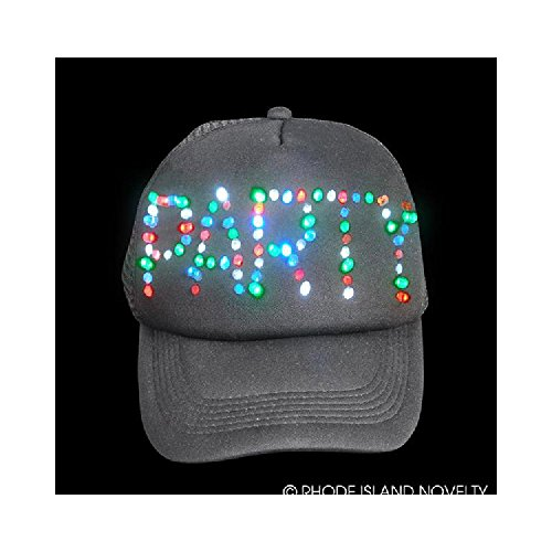 Light-Up Black Party Trucker Cap by Bargain World