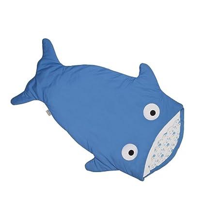 Tiburón Sleep Saco de dormir para bebé with100% algodón material, invierno manta saco de