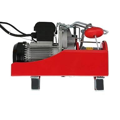 capacit/à 1600 W Paranco elettrico da 230 V 500//1000 kg portata 1000 kg colore: rosso Blackpoolal