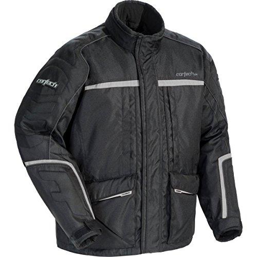 Cortech Cascade 2.1 Men's Snowboard Snowmobile Jacket - Black/Black/Silver / X-Large