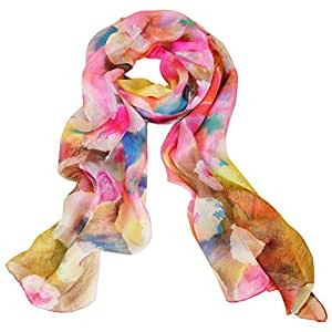 ionlyou® 100% Fashion Soft & Warm Silk Chiffon Long Scarves Shawls Wrap For Women (Multi-color)