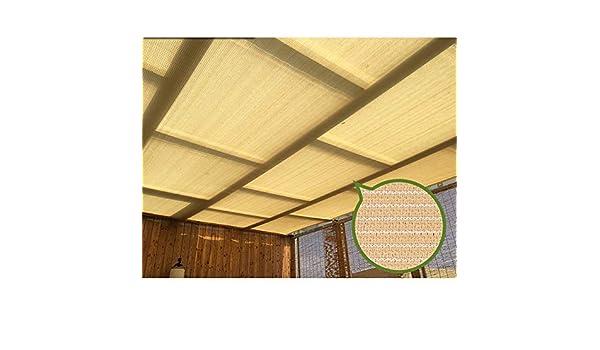 GuoWei- Velas de sombra 90% Solar Obstruido Red Malla con Ojal para Jardín Patio Al Aire Libre Personalizable (Color : Beige, Size : 6x8m): Amazon.es: Jardín