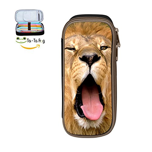 PenStar-Lion Pen Pencil Case Large Capacity Stationery Box multi-function Storage Bag For Students-Black ()