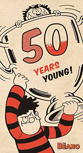 The Beano50th 50 Years Young Birthday Card Amazoncouk Office