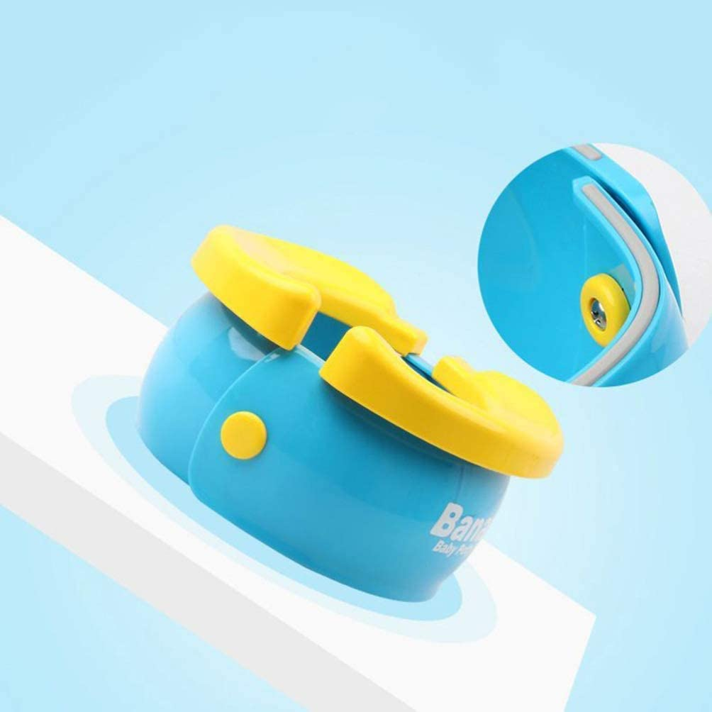 Portable Toilet Training Seat with Disposable Bags for Babies,Toddlers and Kids,Easy to Carry and Use When Outside Travel or Potty Training Baby Toilet Training Travel Potty