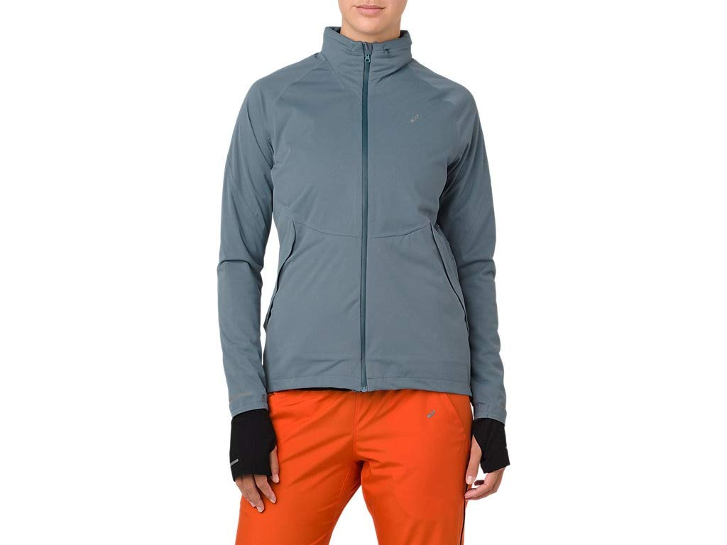 ASICS 2012A018 Women's System Jacket, Ironclad, Small by ASICS (Image #1)
