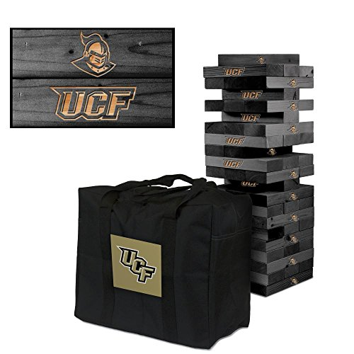 Central Florida UCF Knights Onyx Stained Giant Wooden Tumble Tower Game by Victory Tailgate