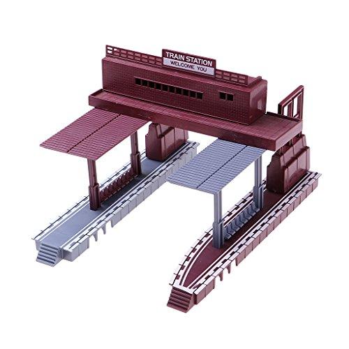 perfk 1:87スケール 列車風景 鉄道駅モデル HOスケール 鉄道レイアウトの商品画像