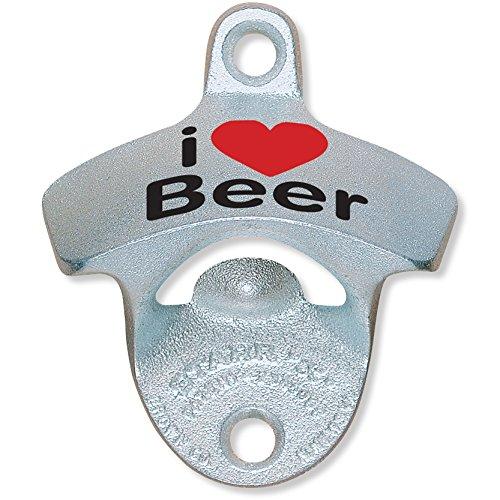 I Heart Beer - Starr Metal Wall Mount Bottle Opener