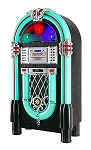 Jukebox Beatfoxx Goldenage años 40/ 50 con LP, CD, USB, reproductor MP3, radio y Bluetooth