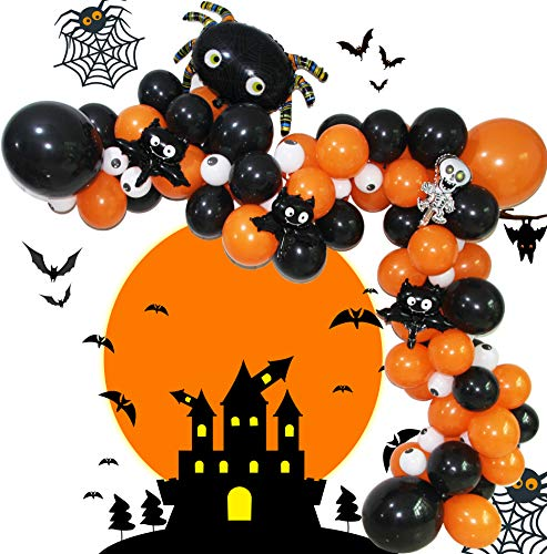 Diy Halloween Garlands (Eanjia Halloween Balloons Garland Kit DIY Balloon Arch Kit 5-18