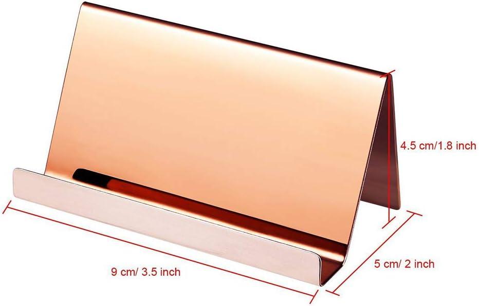 A0127 Visitenkartenhalter Visitenkartenhalter Edelstahl Visitenkartenhalter B/ürobedarf 9x5x4.5cm ros/égold