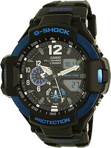 Casio G Shock Black Quartz GA1100 2B