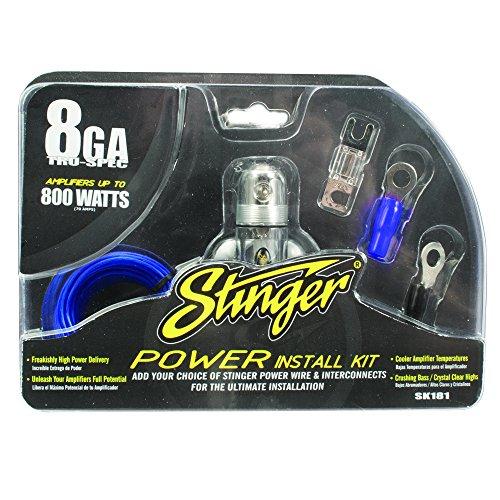 Stinger SK181 800-Watt 8-Gauge Car Audio Amplifier Accessory Kit -