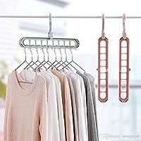 Premsons® Multi Functional Clothes Hanger Holder Portable Anti-Slip Storage Rack Space Saving Hook for Garment Drying
