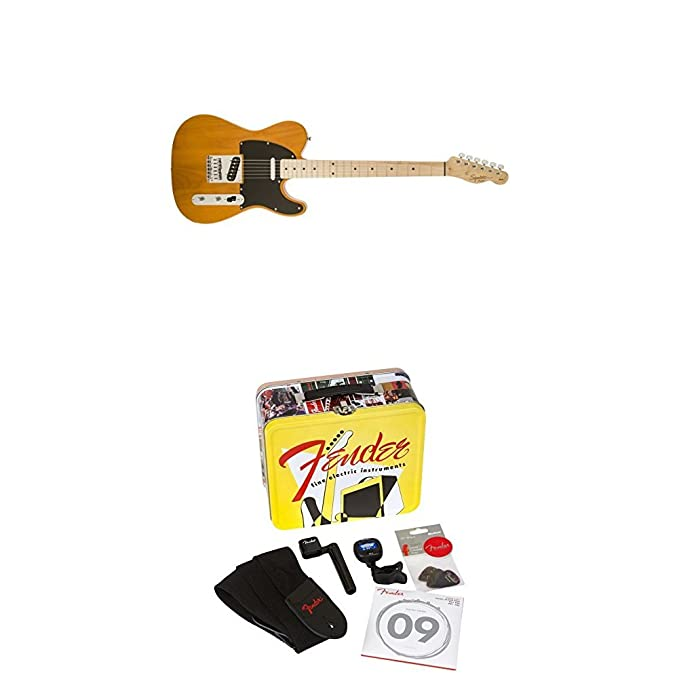 Amazon.com: Squier by Fender Affinity Telecaster Beginner Electric Guitar - Butterscotch Blonde with Accessories Kit -