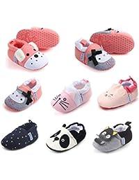Baby Boys Girls Slippers Cute Cartoon Warm Socks Winter House Shoes First Walker Shoes