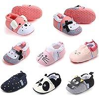 Sakuracan Baby Boys Girls Slippers Cute Cartoon Warm Socks Winter House Shoes First Walker Shoes