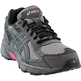 ASICS Women's Gel-Venture 6 Running Shoe, Black/Island Blue/Pink, 6 M US