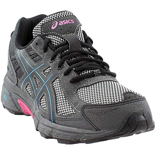 ASICS Women's Gel-Venture 6 Running Shoe, Black/Island Blue/Pink, 8 M US