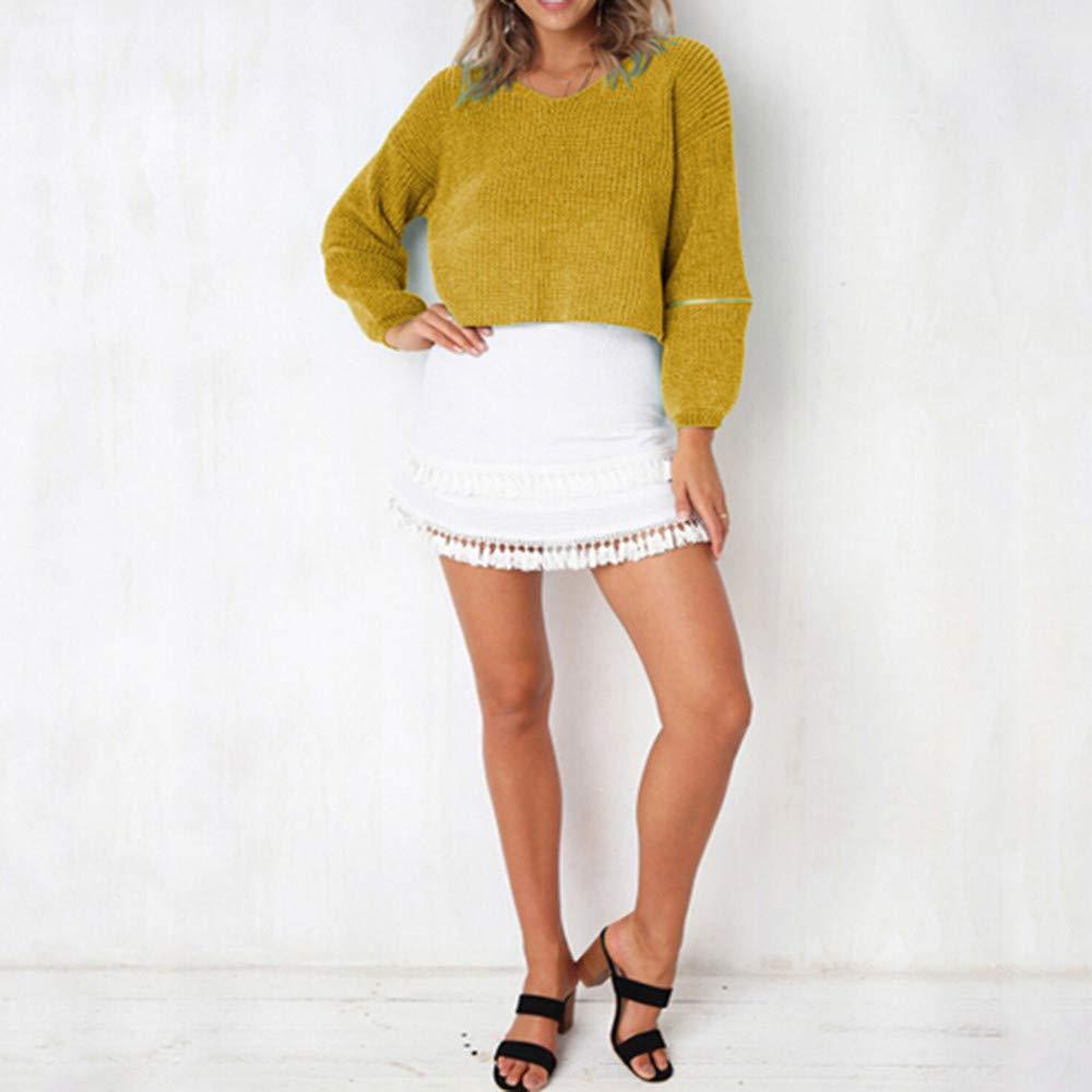 859dfde0a4 ZODOF Suave cómodo Suéter de Punto de MujerLas Mujeres de Moda de Invierno  de Manga Larga