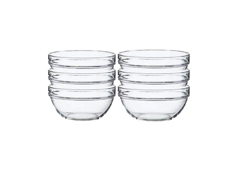 Lauryn Janae Prep Bowl Glass, 3.5'' Inch, Clear (Set of 6) by Lauryn Janae (Image #5)