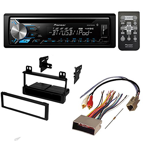 aftermarket car stereo receiver radio kit dash installation mounting trim  bezel with wiring harness for select