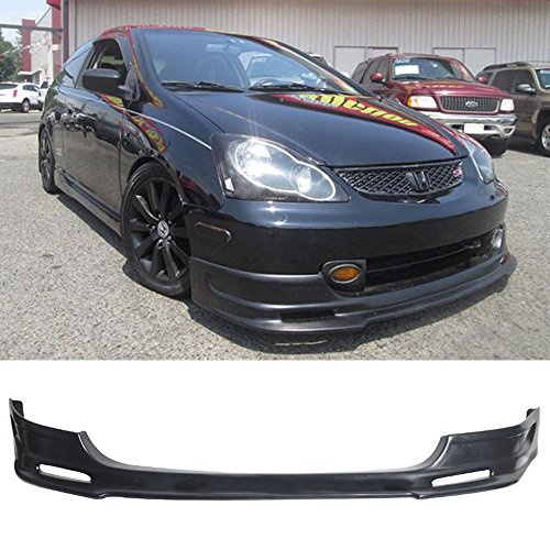 Front Bumper Lip Fits 2003-2005 Honda Civic | PU - Poly Urethane Unpainted Black Guard Protection Finisher Under Chin Spoiler by IKON MOTORSPORTS | 2004 ()