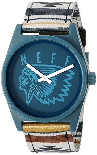 Neff Unisex NF0209CAMP Daily Woven Analog Display Japanese Quartz Multi-Color Watch (Watch Neff)