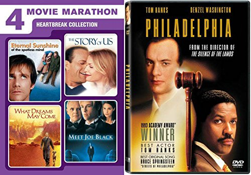 HEARTBREAK COLLECTION: Extra Tissues Needed: Eternal Sunshine on the Spotless Mind/ The Story of Us/ What Dreams May Come/ Meet Joe Black/ Philadelphia 5 DVD ()