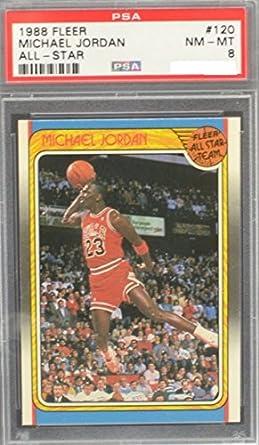 3a5a69f188a Amazon.com: Michael Jordan Graded PSA 8 NM-MT (Basketball Card) 1988 ...