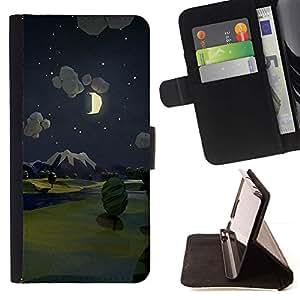 Momo Phone Case / Flip Funda de Cuero Case Cover - Pintura Noche Luna Naturaleza - Sony Xperia Z3 D6603