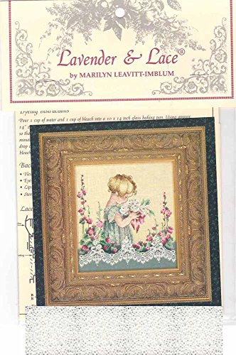 Lace Cross Stitch - Lavender & Lace Cross Stitch Chart & Mill Hill Bead Pack ~ EMMA'S GARDEN #49