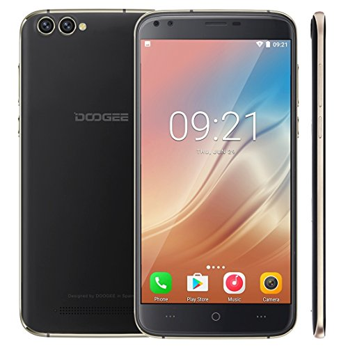 DOOGEE X30 2GB+16GB 5.5 inch 2.5D Android 7.0 MTK6580 Quad Core up to 1.3GHz WCDMA & GSM (Black) by DOOGEE