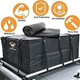Waterproof Rooftop Cargo Carrier - Heavy Duty Roof Top Luggage Storage Bag with Anti-slip Mat + 10 Reinforced Adjustable Straps for Extra Protection - Perfect for Car, Truck, SUV, Van - 15 Cubic Feet