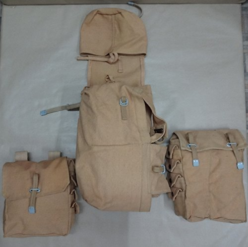 warreplica German WWII Engineer Assault Pack - Backpack with Pioneer Pouches - Khakhi - Reproduction by warreplica
